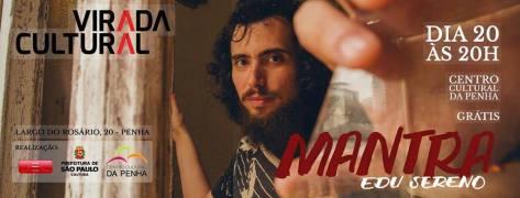 Flyer - Edu Sereno na Virada Cultural